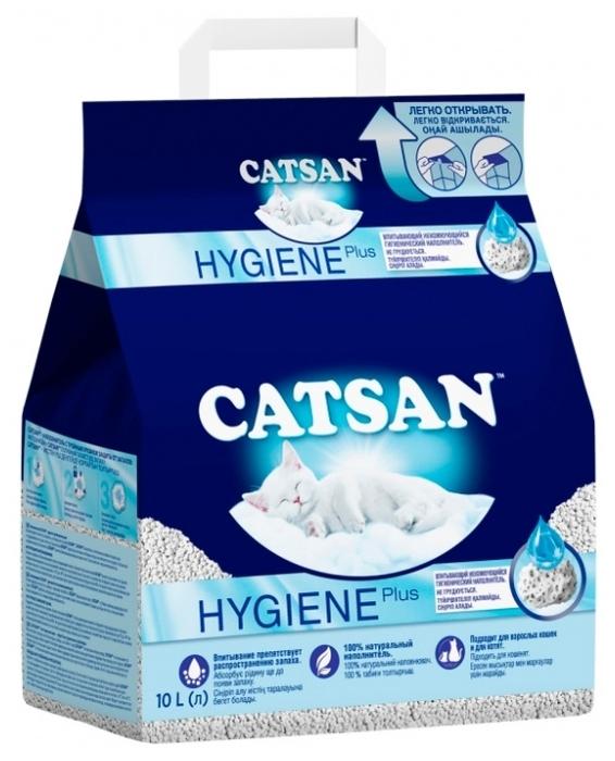 Catsan Hygiene Plus, 10 л - песочный