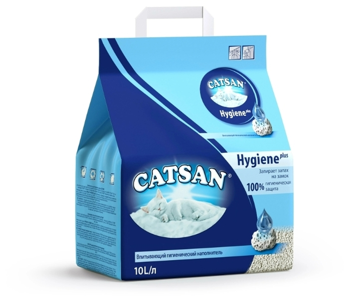 Catsan Hygiene Plus, 10 л - с защитой от запаха, для котят