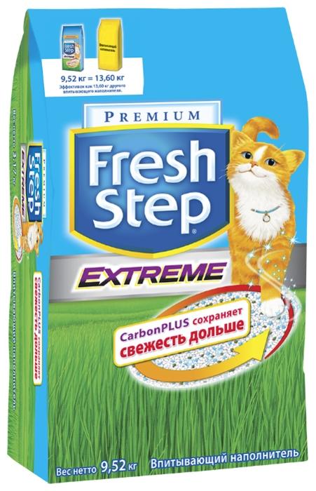 Fresh Step Extreme, 18 л - с защитой от запаха, антибактериальный, ароматизированный