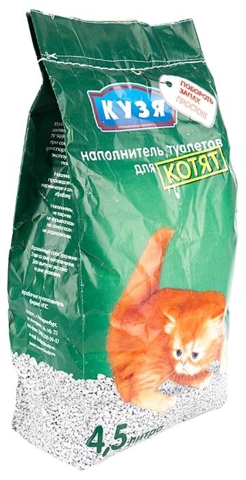 Кузя для котят, 4.5 л - биоразлагаемый, с защитой от запаха, для котят