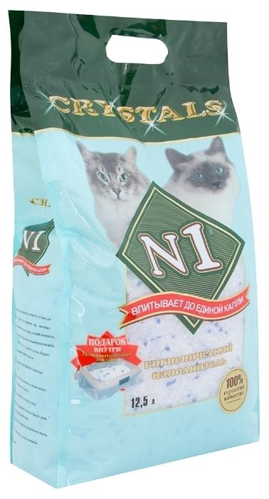 N1 Crystals, 12.5 л - с защитой от запаха, гипоаллергенный