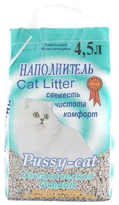 Pussy-Cat Океанический, 4.5 л - с защитой от запаха, антибактериальный, ароматизированный