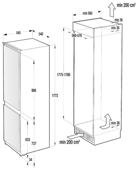 Gorenje RKI 4182 E1 - класс энергопотребления A++