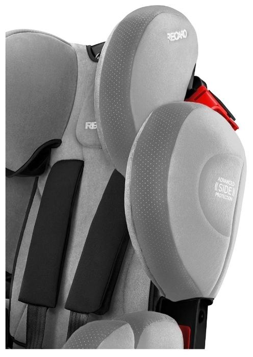 Recaro Young Sport Hero 1/2/3 (9-36 кг) - комплектация: анатомическая подушка, мягкие накладки на внутренние ремни, ручка для переноски