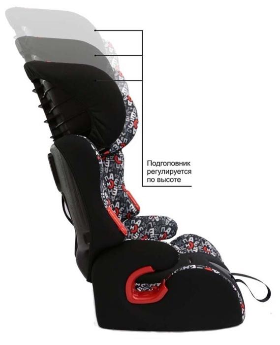 Siger Космо 1/2/3 (9-36 кг) - комплектация: анатомическая подушка, мягкие накладки на внутренние ремни