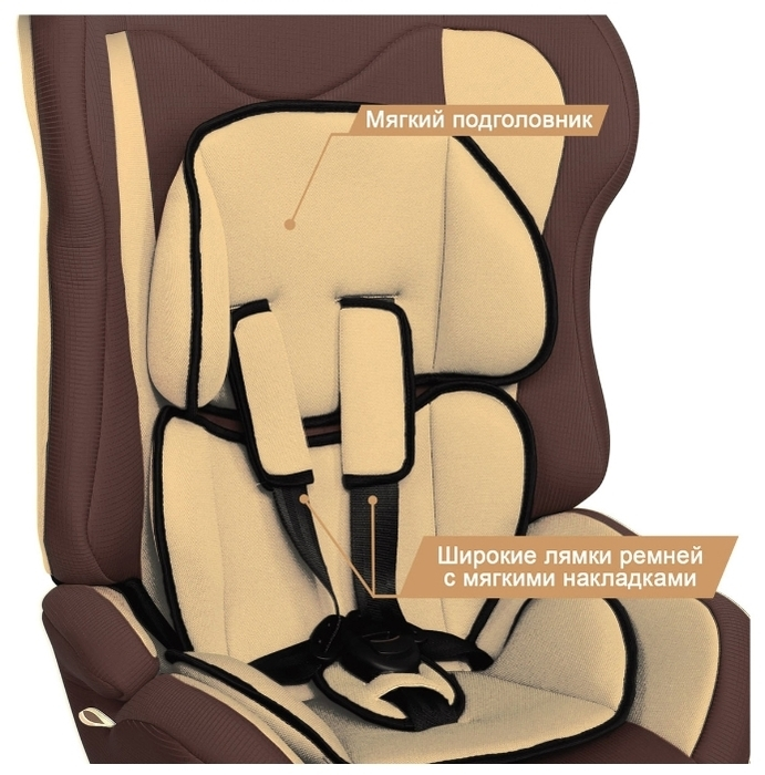 Zlatek Atlantic Lux 1/2/3 (9-36 кг) - комплектация: анатомическая подушка, мягкие накладки на внутренние ремни