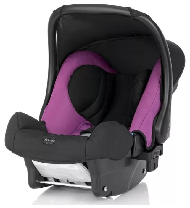 BRITAX ROMER Baby-Safe Plus II SHR 0+ (до 13 кг) - комплектация: анатомическая подушка, мягкие накладки на внутренние ремни, капюшон / тент от солнца, ручка для переноски