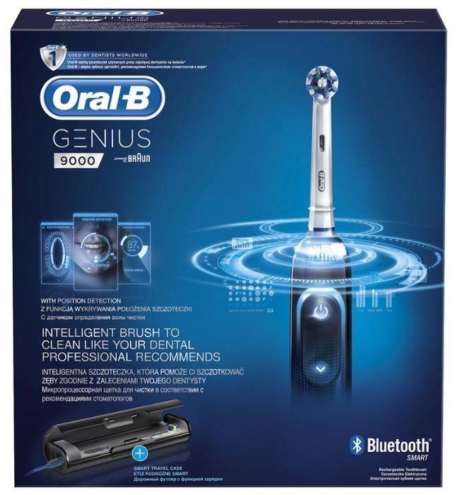 Oral-B Genius 9000 - особенности: датчик нажима, таймер, индикация зарядки, синхронизация со смартфоном
