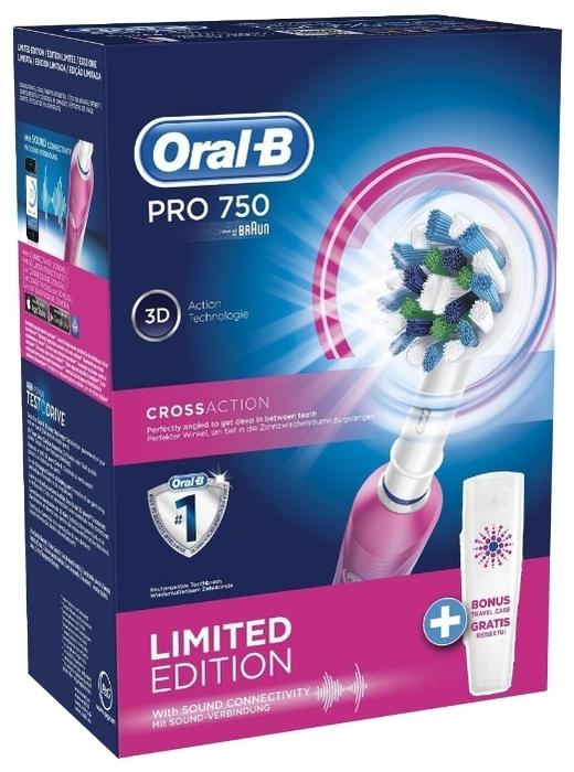Oral-B Pro 750 CrossAction - насадка в комплекте: стандартная