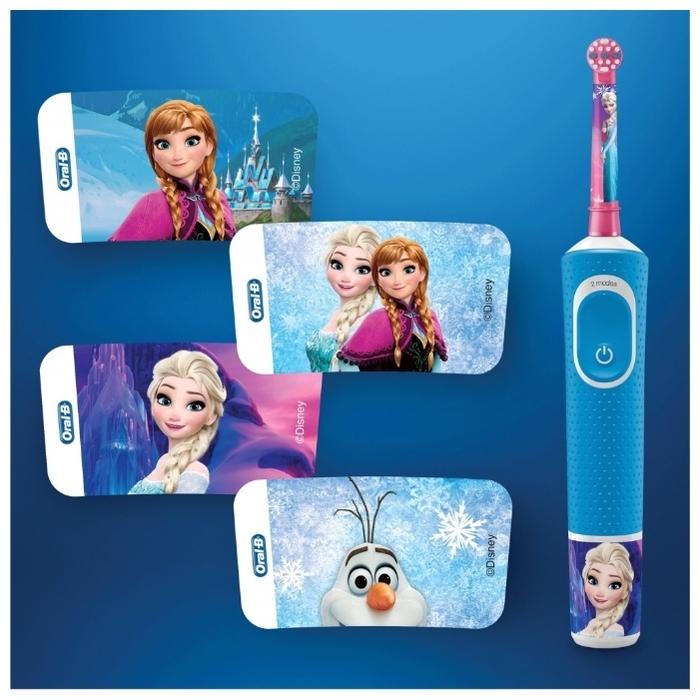 Oral-B Vitality Kids Frozen D100.413.2K - режимы: ежедневная чистка, деликатная чистка