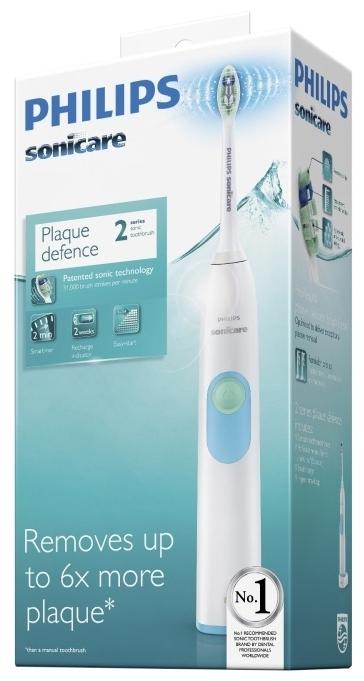 Philips Sonicare 2 Series plaque control HX6231/01 - питание: от аккумулятора