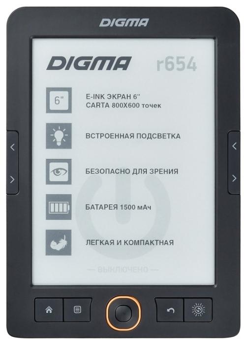 "DIGMA r654 4 ГБ - дисплей  6"""