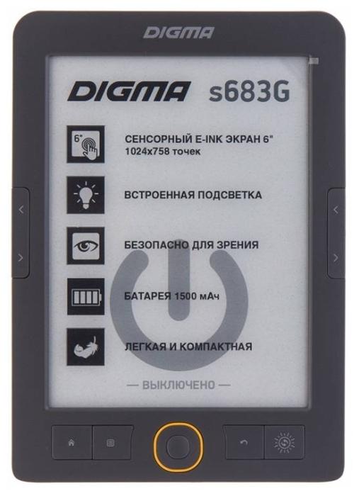 "DIGMA s683G 4 ГБ - сенсорный дисплей,   6"" (1024x758)"