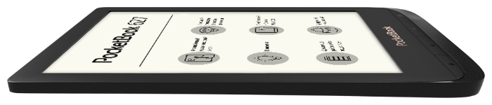 PocketBook 627 - ШхДхТ: 108х161х8мм, 155г