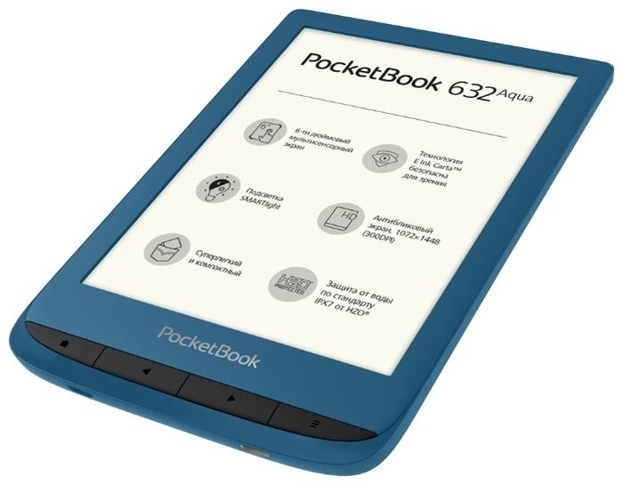 PocketBook 632 Aqua 16 ГБ - объем встроенной памяти: 16ГБ