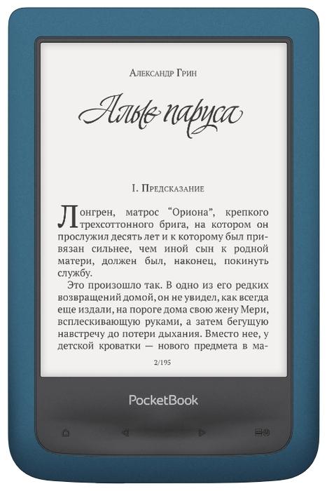 """PocketBook 641 Aqua 2 8 ГБ - сенсорный дисплей,   6"""" (1024x758)"""