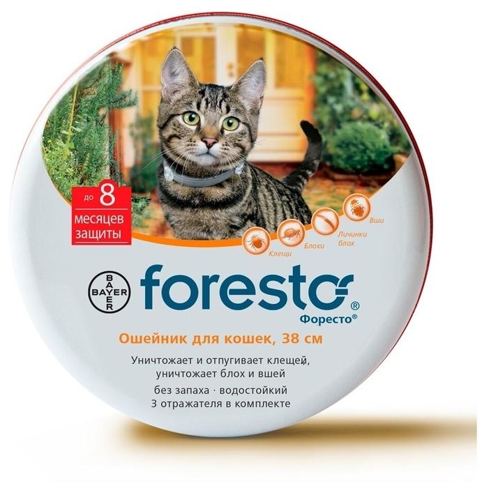 Форесто (Bayer) инсектоакарицидный для кошек и котят - вес животного до 8кг