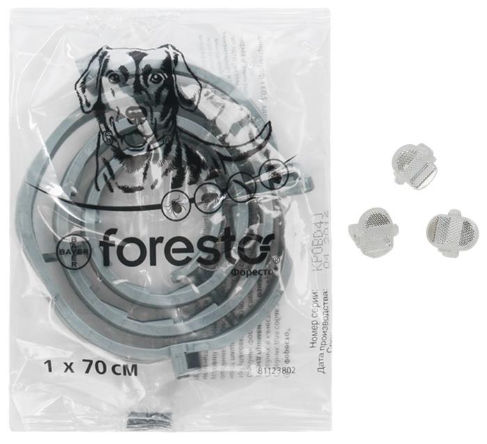 Форесто (Bayer) инсектоакарицидный для собак и щенков 1шт. в уп. - продолжительность защиты 240дней
