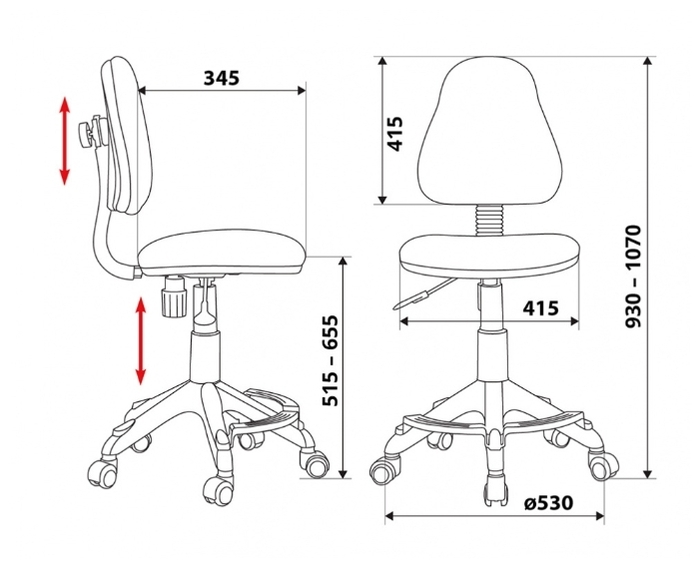 Бюрократ KD-4-F детское - Особенности: механизм качания, подставка для ног