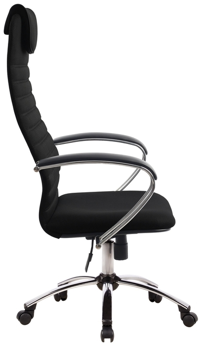 Метта BK-10 Ch офисное - Конструкция:  подголовник, подлокотники, колеса (ролики)