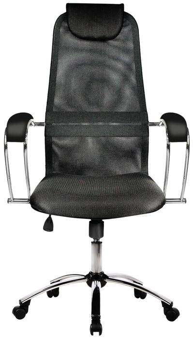 Метта BK-8 Ch офисное - Конструкция:  подголовник, подлокотники, колеса (ролики)