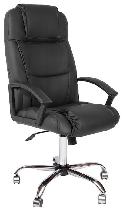 TetChair Бергамо (крестовина хром, обивка кож/зам) - Высота кресла: от 126до 136см