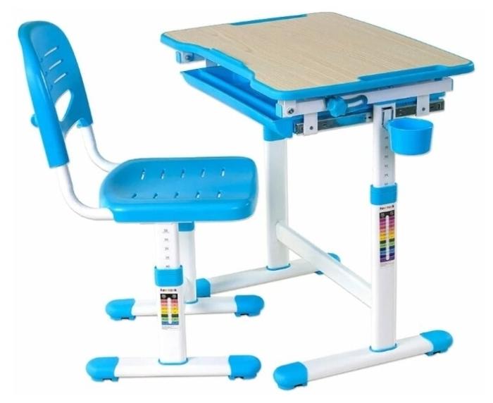 FUNDESK растущая детская парта и стул Piccolino - с регулировкой высоты стола (54-76см)