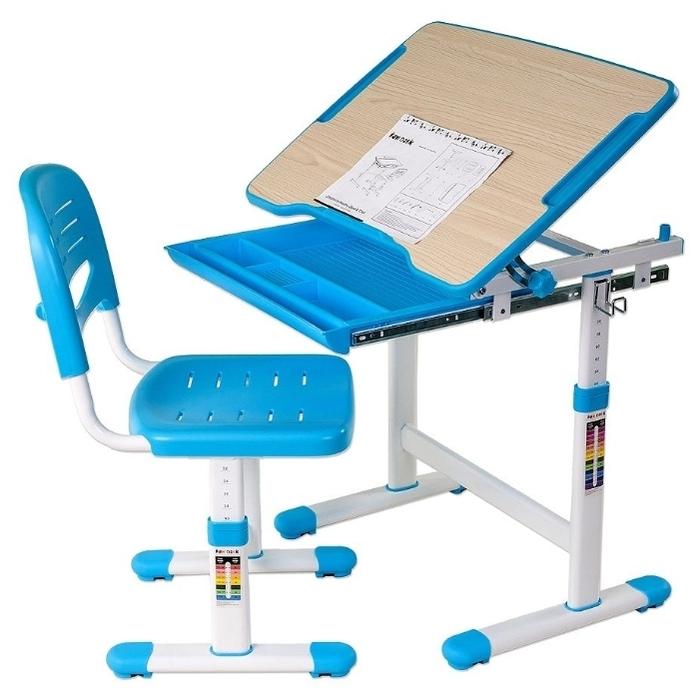 FUNDESK растущая детская парта и стул Piccolino - с регулировкой наклона столешницы