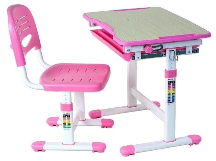 FUNDESK растущая детская парта и стул Piccolino - материал поверхности: МДФ, пластик
