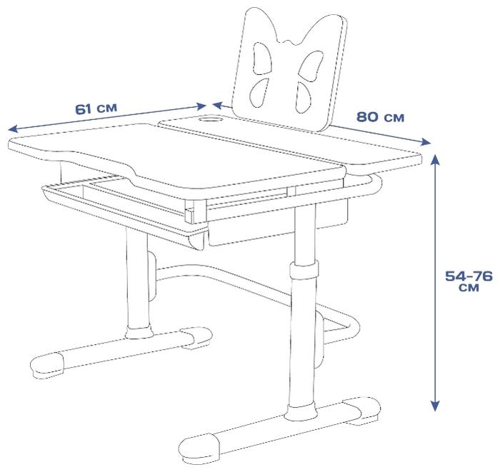 RIFFORMA стул + стол Comfort-07 - материал поверхности: ЛДСП