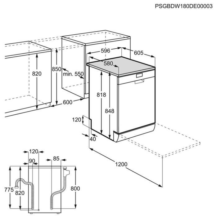 Electrolux ESF 8560 ROW - расход воды: 11л