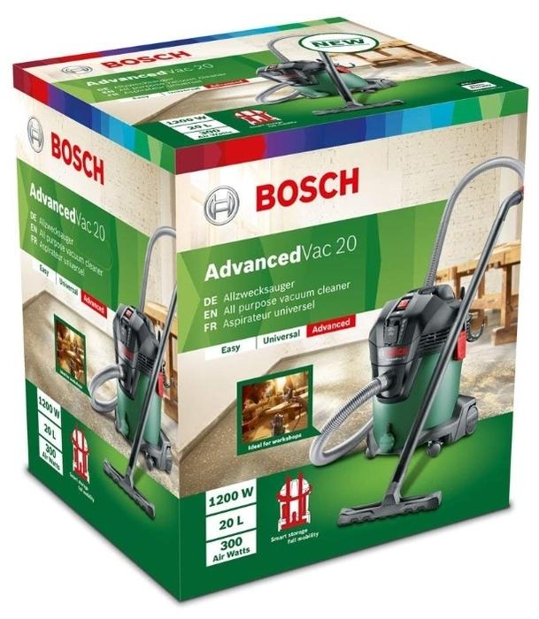 BOSCH AdvancedVac 20, 1200 Вт - мощность 1200Вт