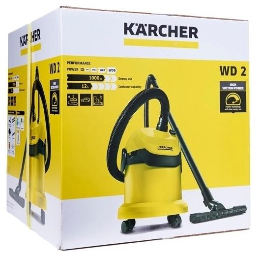 KARCHER WD 2, 1000 Вт - длина кабеля питания 4м