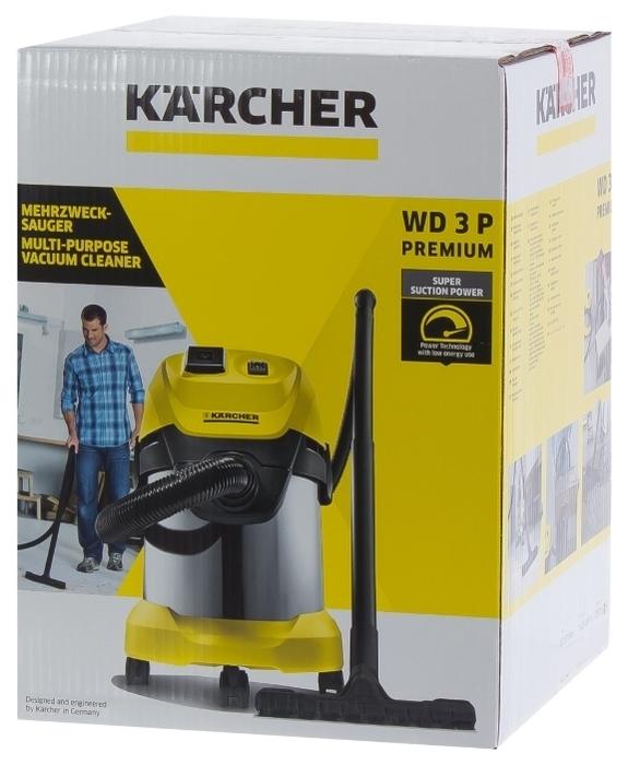 KARCHER WD 3 P Premium, 1000 Вт - работа на выдув