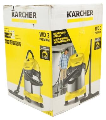 KARCHER WD 3 Premium, 1000 Вт - работа на выдув