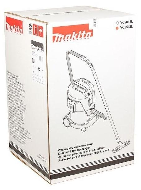 Makita VC2512L, 1000 Вт - длина кабеля питания 5м