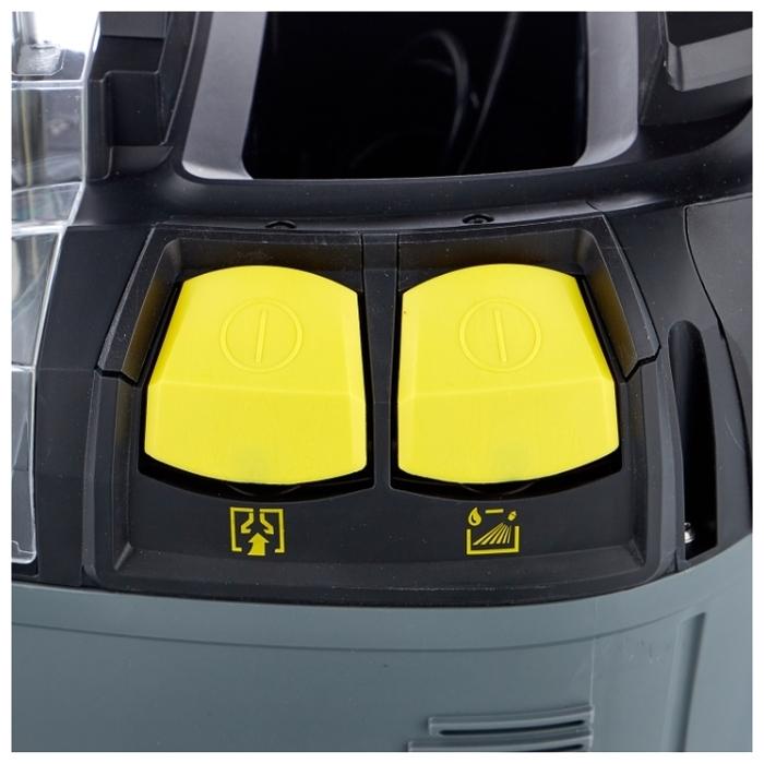 KARCHER Puzzi 8/1 C - особенности: индикатор заполнения пылесборника, функция сбора жидкостей