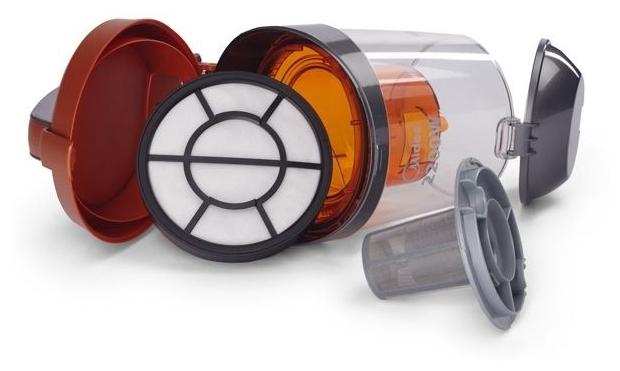 Midea VCS43C4 - особенности: индикатор заполнения пылесборника