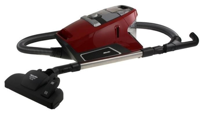Miele SKRR3 Blizzard CX1 Red - особенности: индикатор заполнения пылесборника, регулятор мощности на корпусе