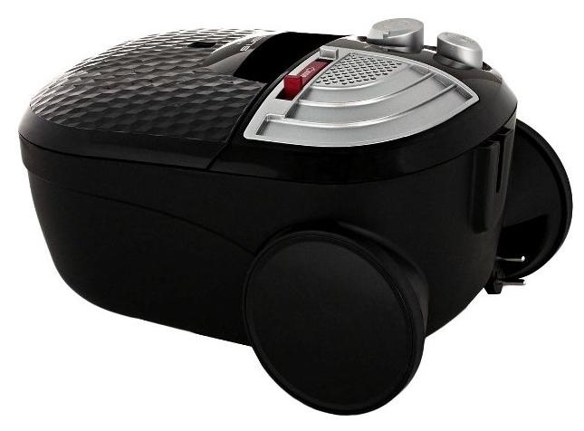 Polaris PVB 1802 - особенности: индикатор заполнения пылесборника, регулятор мощности на корпусе