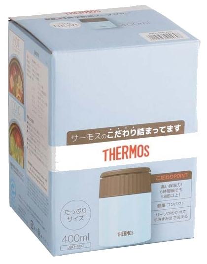 Thermos JBQ-400, 0.4 л - сохраняет тепло: до 6ч
