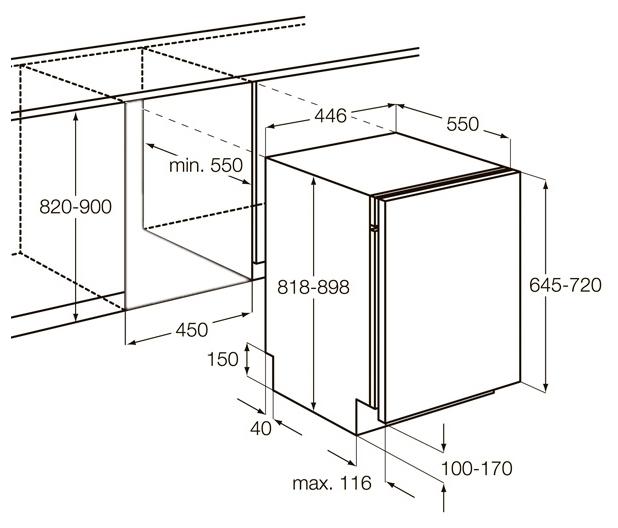 AEG FSR 62400 P - вместимость: 9комплектов