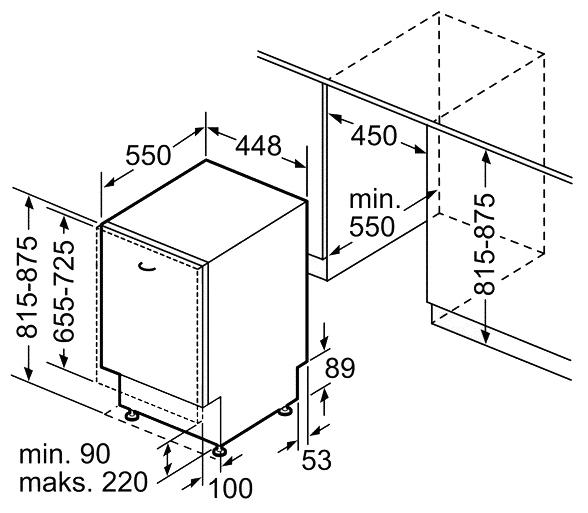 Bosch SPV25FX30R - установка: встраиваемая полностью