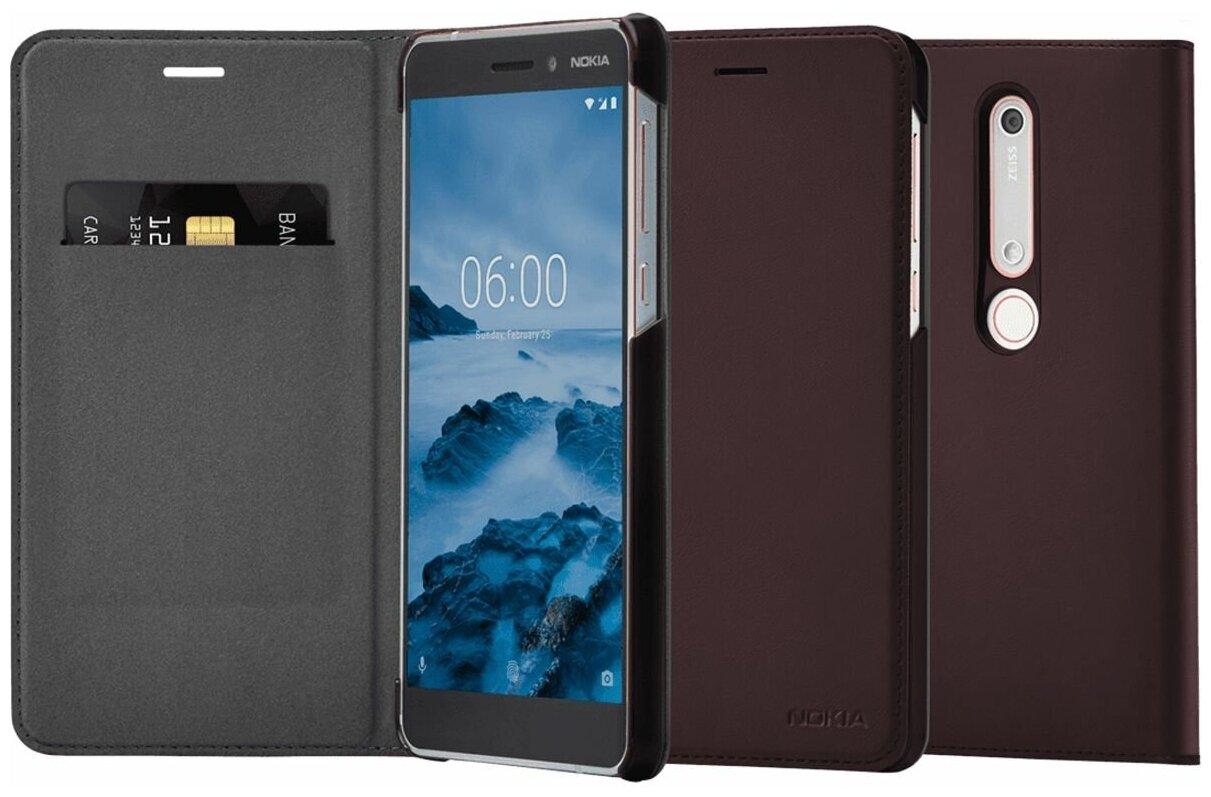 Nokia CP-308 для Nokia 6.1 - особенности: отделение для банковских карт