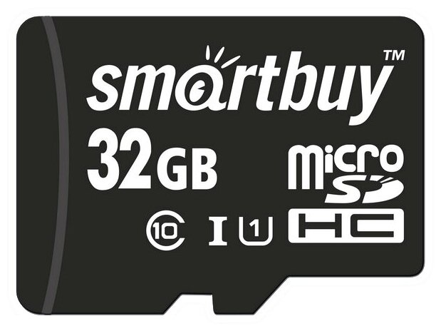 SmartBuy microSDHC Class 10 UHSI U1 + SD adapter - в комплекте: адаптер на SD