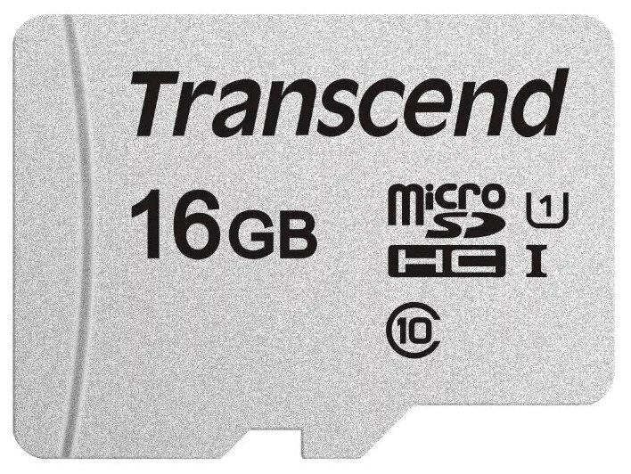 Transcend microSD 300S Class 10 UHSI U1 - поддержка UHS: UHS Class 1, UHS-I