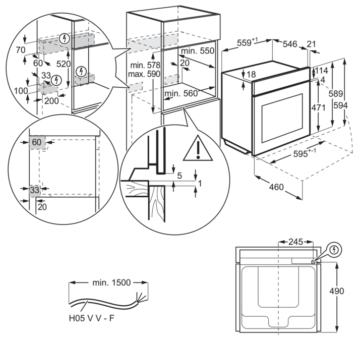 Electrolux OKA9S31WZ - установка: независимая