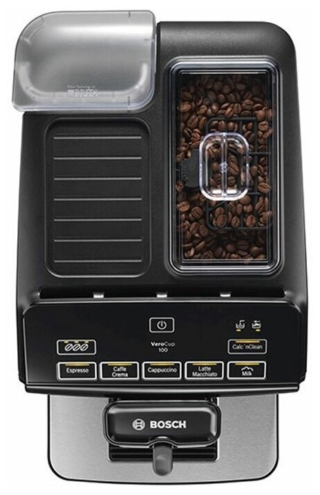 Bosch TIS 30129 RW VeroCup 100 - приготовление капучино: автоматическое