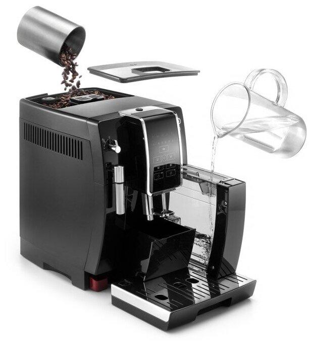 De'Longhi Dinamica ECAM 350.15.B - тип напитка: капучино, эспрессо, американо