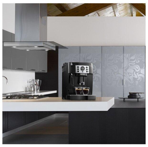 De'Longhi Magnifica ECAM 22.110 - настройки: температура кофе, крепость кофе, объем порции горячей воды, жесткость воды
